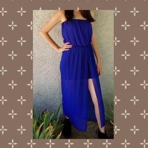 💙 Blue 💙 Strapless Maxi / Mini Dress!